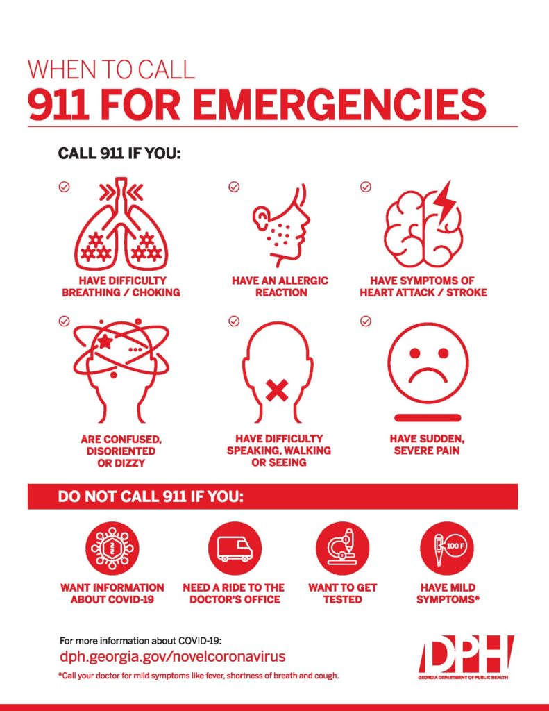 COVID-19 When to Call 9-1-1 for Emergencies